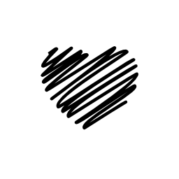 落書き心臓形状無料アイコン