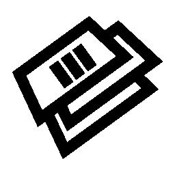 テキスト書類スタック無料アイコン