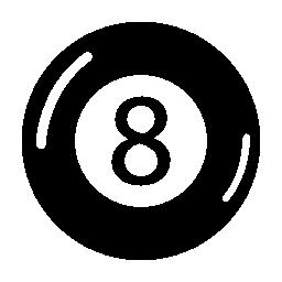 8 ボール ビリヤード無料アイコン
