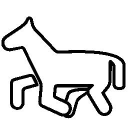馬のポニー漫画概要無料アイコン
