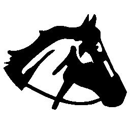 馬の頭の右サイド ビュー シルエット無料アイコン