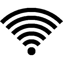 Wifi 完全な信号インタ フェース シンボル無料アイコン