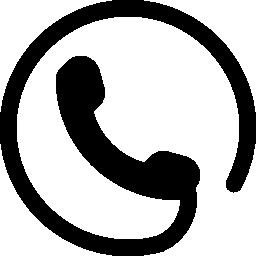 携帯電話、無料のアイコンの周りに円形コードと耳介のシンボル