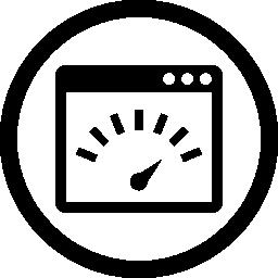 ページ速度インターフェイス円形シンボル無料アイコン