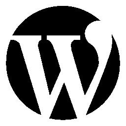 サークル無料アイコンで手紙のワードプレスのロゴ