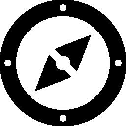 無料のアイコンを円形のコンパス