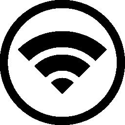 サークル無料アイコン内部 Wifi 記号