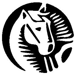 馬漫画サークル シルエット無料のアイコンの描画