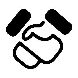 ハンドシェイク漫画ジェスチャー無料アイコン