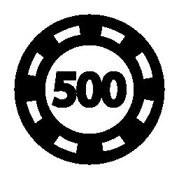 500 無料アイコンの価値のポーカー チップ