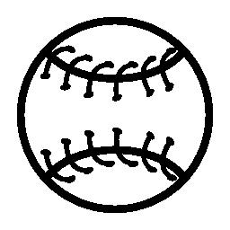 野球ボール概要無料アイコン