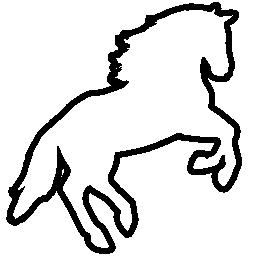 馬のジャンプのアウトラインは、バリアント無料アイコン