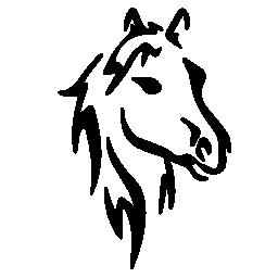 馬の顔アート スケッチ無料アイコン