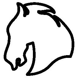 馬の頭に直面して左概要バリアント無料アイコン