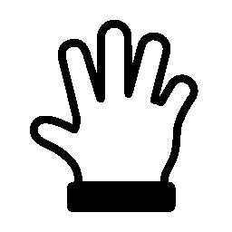 手スプレッド ジェスチャー無料アイコン