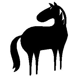 無料アイコンの左方向に直面している馬全身漫画バリアント