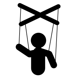 マリオネット人形シルエット無料アイコン
