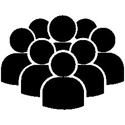 ユーザーの無料アイコンの群衆