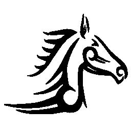 馬のタトゥー アート バリアント サイドビュー右側に無料のアイコン