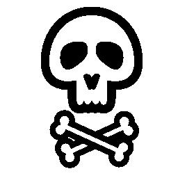 頭骨および骨の概要無料アイコン