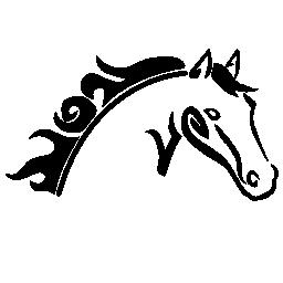 馬の頭スケッチ バリアント無料アイコン