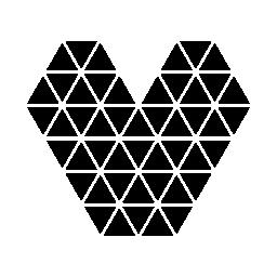 無料の小さな三角形のアイコンの心を作った