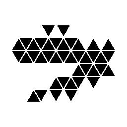 無料のアイコンを小さな三角形から成っているドラゴン