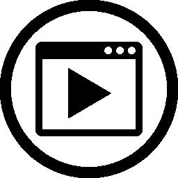 ビデオ マーケティング インターフェイス円形シンボル無料アイコン