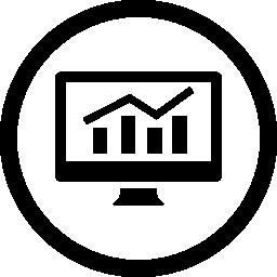 アナリティクス バー グラフィック モニターの画面無料アイコン
