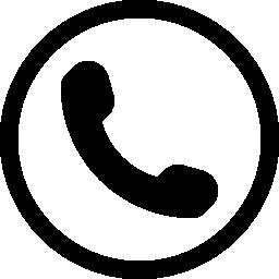 耳介電話円無料アイコンのシンボル