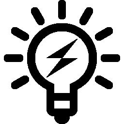 ボルトの無料アイコンと電球