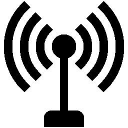 アンテナ信号ライン シンボル無料アイコン