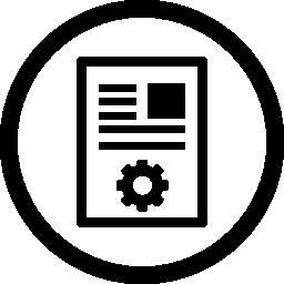 記事のマーケティングの円形のシンボル無料アイコン