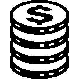 スタック無料アイコンの硬貨