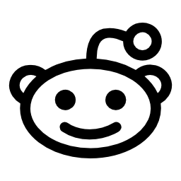 Reddit エイリアン ヘッドのロゴの無料アイコン