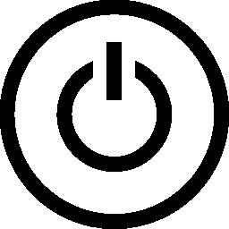 サークル無料アイコン内部電源記号