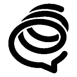 Formspring スパイラル ロゴ無料アイコン