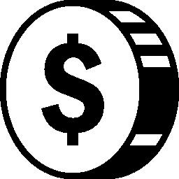 ドルの無料のアイコンの金コイン