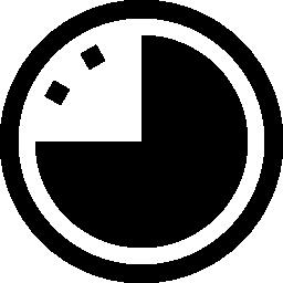 壁の円形時計無料アイコン