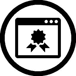 サークル無料アイコンのページの質の記号