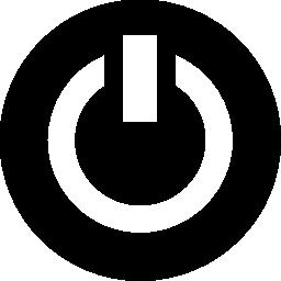 黒と白の無料アイコンのサークルでパワーのシンボル