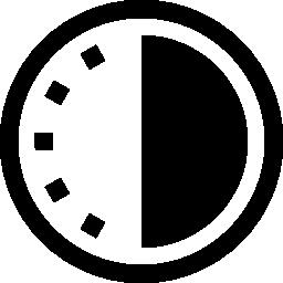 半分暗い無料アイコン時計バリアント