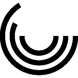 丸いライン無料アイコンの円グラフ