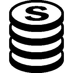 お金の積み上げコイン無料アイコン