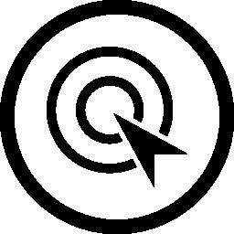サークル無料アイコンでクリック最適化シンボルごとに支払う