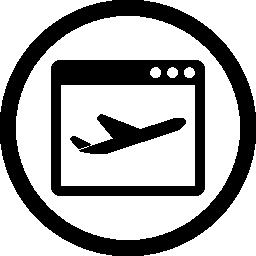 サークル無料アイコンでランディング ページ記号