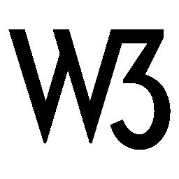 W3 ロゴ無料アイコン