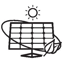 生態学的な太陽電池パネル ツール無料アイコン