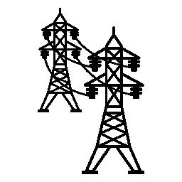 電力線接続塔無料アイコン