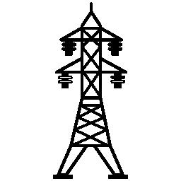 4 つの絶縁体無料アイコンと電力線